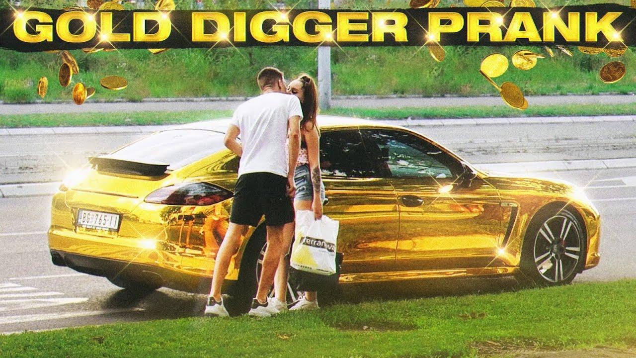 GOLD DIGGER PRANK ! (razbila auto od 90,000€) 🥱