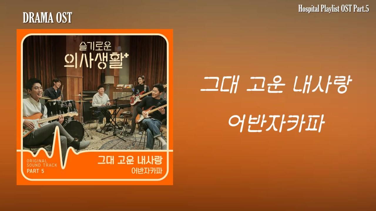 어반자카파 - 그대 고운 내사랑 l 슬기로운 의사생활 OST PART 5