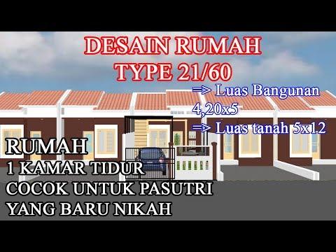 desain rumah type 21 luas tanah 60