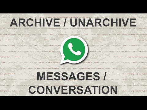 How to unarchive a chat on whatsapp iphone 8