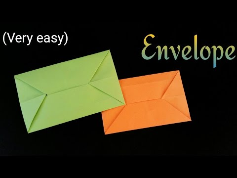 "How to make a simple and easy ""Envelope"" - Useful Origami Tutorial"