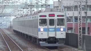 【青帯カラフルに!?】東急8500系8637F青帯車側面のドアがカラフルに!?