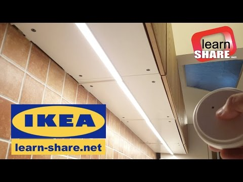 IKEA Kitchen Lighting OMLOPP - How to Install Countertop Led Light
