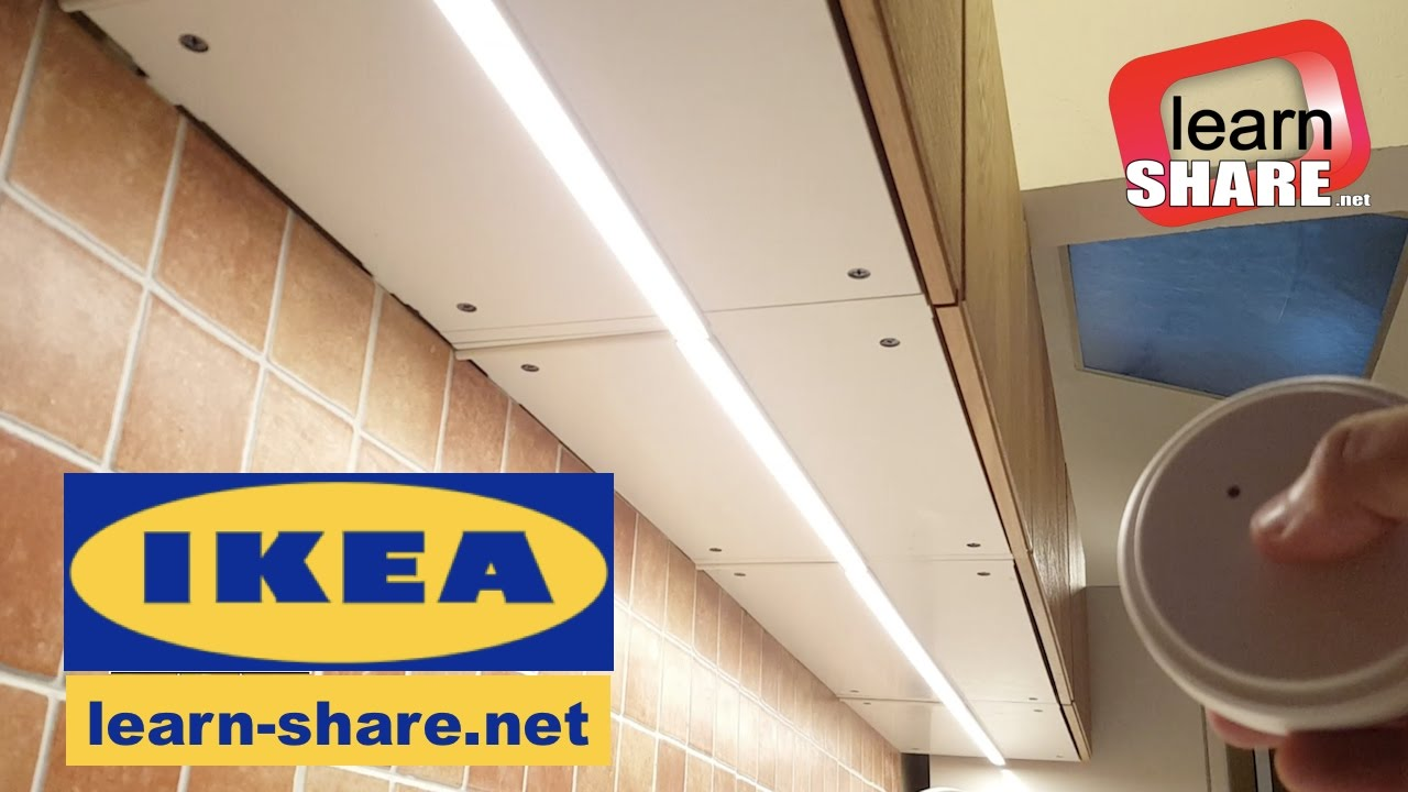 ikea cabinet lighting wiring. IKEA Kitchen Lighting OMLOPP - How To Install Countertop LED Light Ikea Cabinet Wiring E