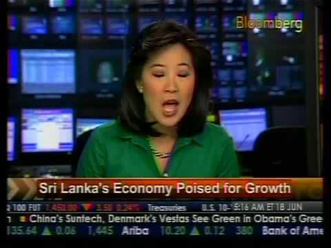 Sri Lanka's Economy Poise For Growth - Bloomberg