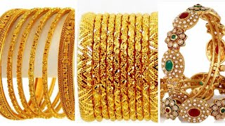 Amazing Gold Bangles Design 2018 || New Jewelry Design Images collection || Designer Gold Bangles