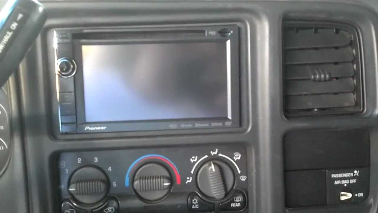2002 Chevy Avalanche Radio Wiring Diagram Finished Silverado Double Din Conversion Youtube