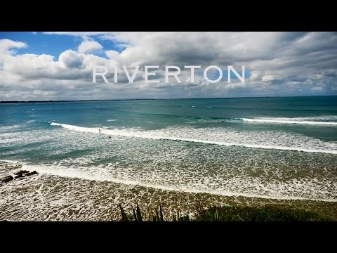 Surfing in Riverton Southland