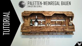 Tutorial: Paletten-Weinregal bauen