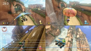 Mario Kart 8: Two/Four-Player Split-Screen/Time Trial Frame-Rate Test