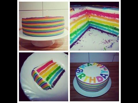 Sallys Regenbogentorte Rezept und Anleitung  / Rainbowcake Recipe / Sallys Welt
