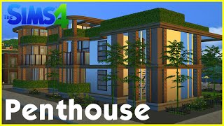 Sims 4 Speedbuild: ★ Penthouse with rooftop garden ★