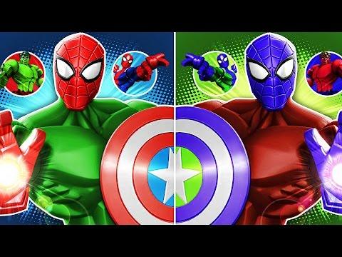 Marvel Super Hero Mashers Spider-Man, Hulk (Best Fights) - Mix + Smash