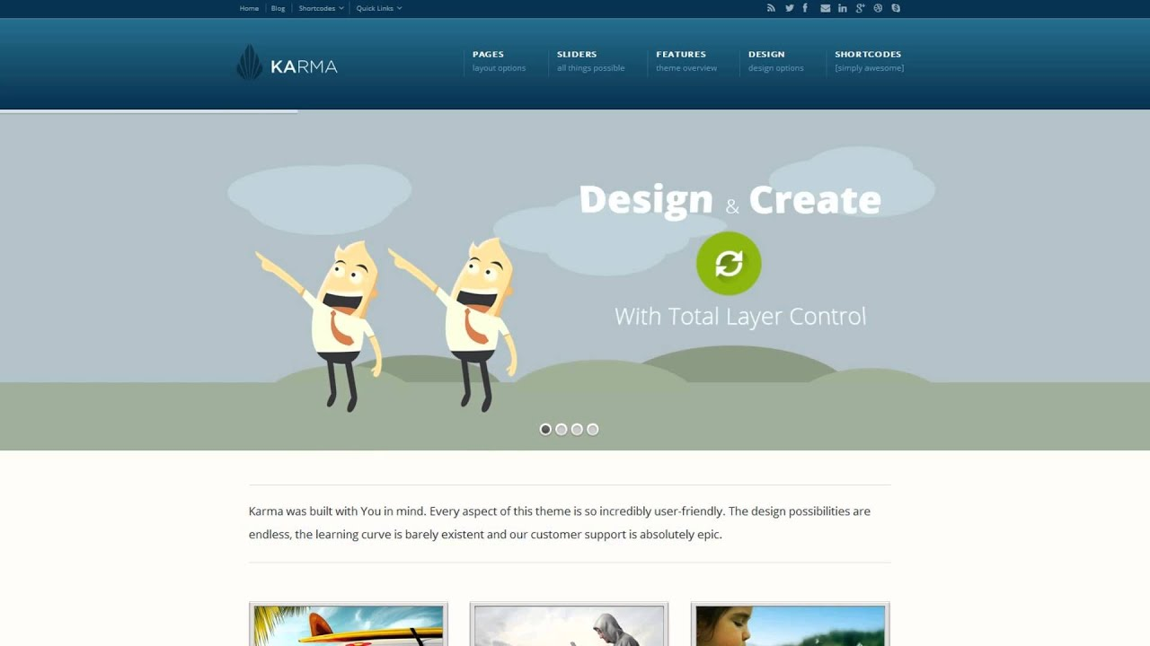 Themeforest - Karma Responsive WordPress Theme - YouTube
