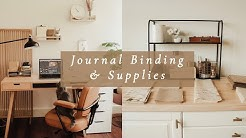 Studio Vlog 08: Journal Binding and Supplies I use
