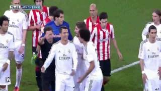 Real Madrid Cristiano Ronaldo Fight red card vs Athletic Bilbao