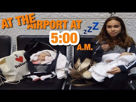 Dawn Inside Miami Airport With Reborn Baby Twins Going To Utah!