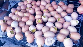 Asian Street Food - Fast Food Street in Asia, Cambodian food #112, Boiled Baby Eggs