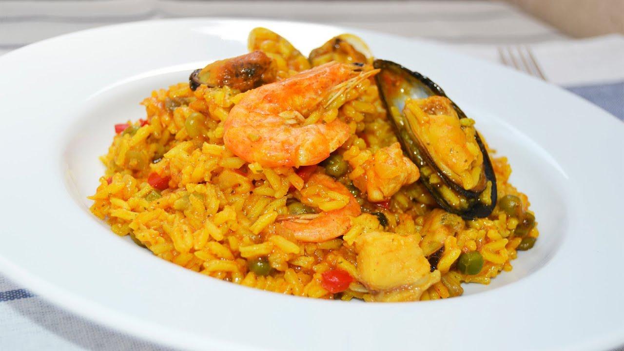 recetas con mariscos y arroz