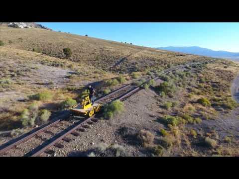 Handcar Pumping Across Nevada's Great Basin