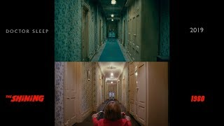 Doctor Sleep (2019) teaser recreated scenes from The Shining (1980) A comparison