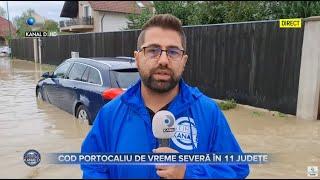 Stirile Kanal D (29.08.2021) - Inundatii si acoperisuri luate de vant! | Editie de pranz