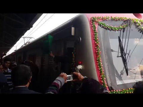Inagural run of superfast local train from Howrah