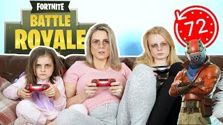 BRiTiSH FAMiLY PLAYS FORTNITE FOR 72 HOURS!!!