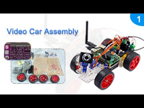 Smart Video Car for Raspberry Pi Assembly Tutorials 01 Open Box