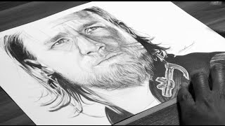Jax Teller Drawing - Sons Of Anarchy - DeMoose Art