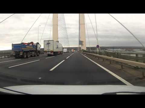 Crossing the Queen Elizabeth II Bridge at Dartford in Kent