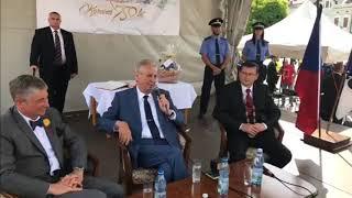 prezident M. Zeman v Karviné