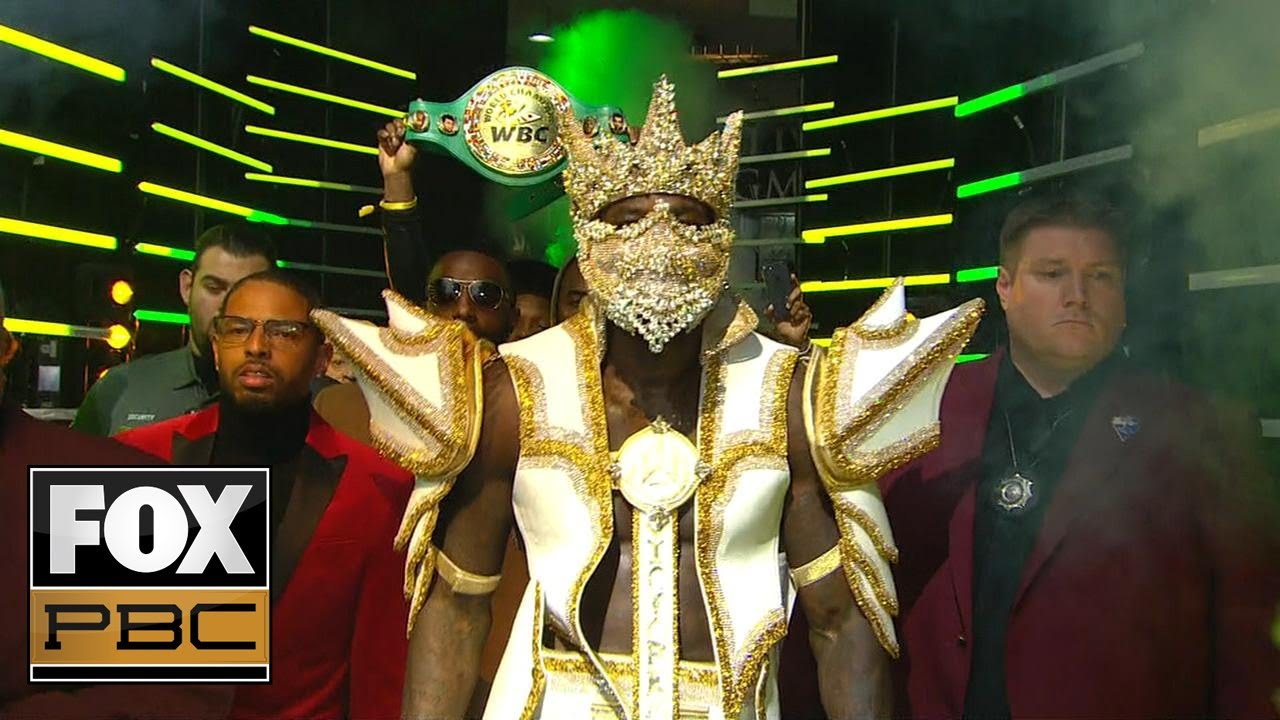Watch Deontay Wilder's epic entrance before his knockout win in Wilder-Ortiz II | PBC ON FOX