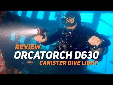 OrcaTorch D630 Canister Dive Light Reivew For Technical Diving