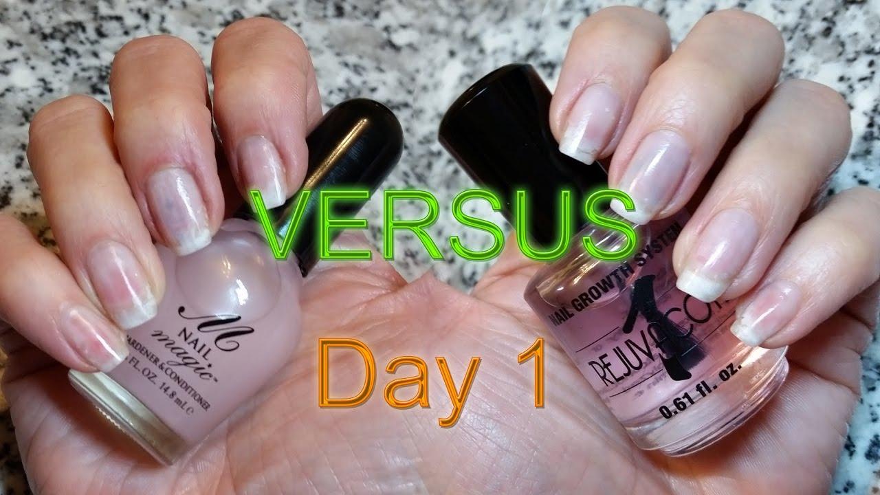 Rejuvacote Vs Nail Magic Comparison - natural nail care - YouTube