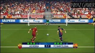 As roma vs fc barcelona | uefa champions league - ucl penalty shootout pes 2018 gameplay pc