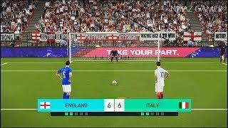 ENGLAND vs ITALY | Penalty Shootout | PES 2018 Gameplay PC