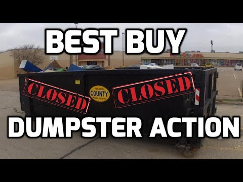 Dumpster Diving Action!  Made Over $100 Today! Best Buy Dumpster Dive!