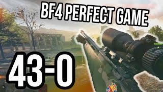BF4 43-0 PERFECT SNIPER RUSH GAME | Battlefield 4 Stream Highlight