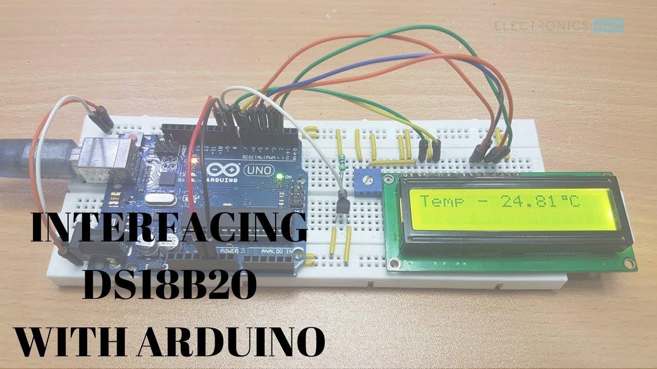 Arduino DS18B20 Temperature Sensor Interface