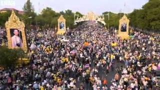 BBC News   Drone eye view of Thailand rally