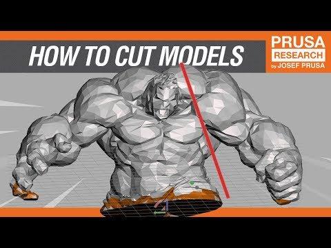 How to cut STL models for 3D printing in Meshmixer