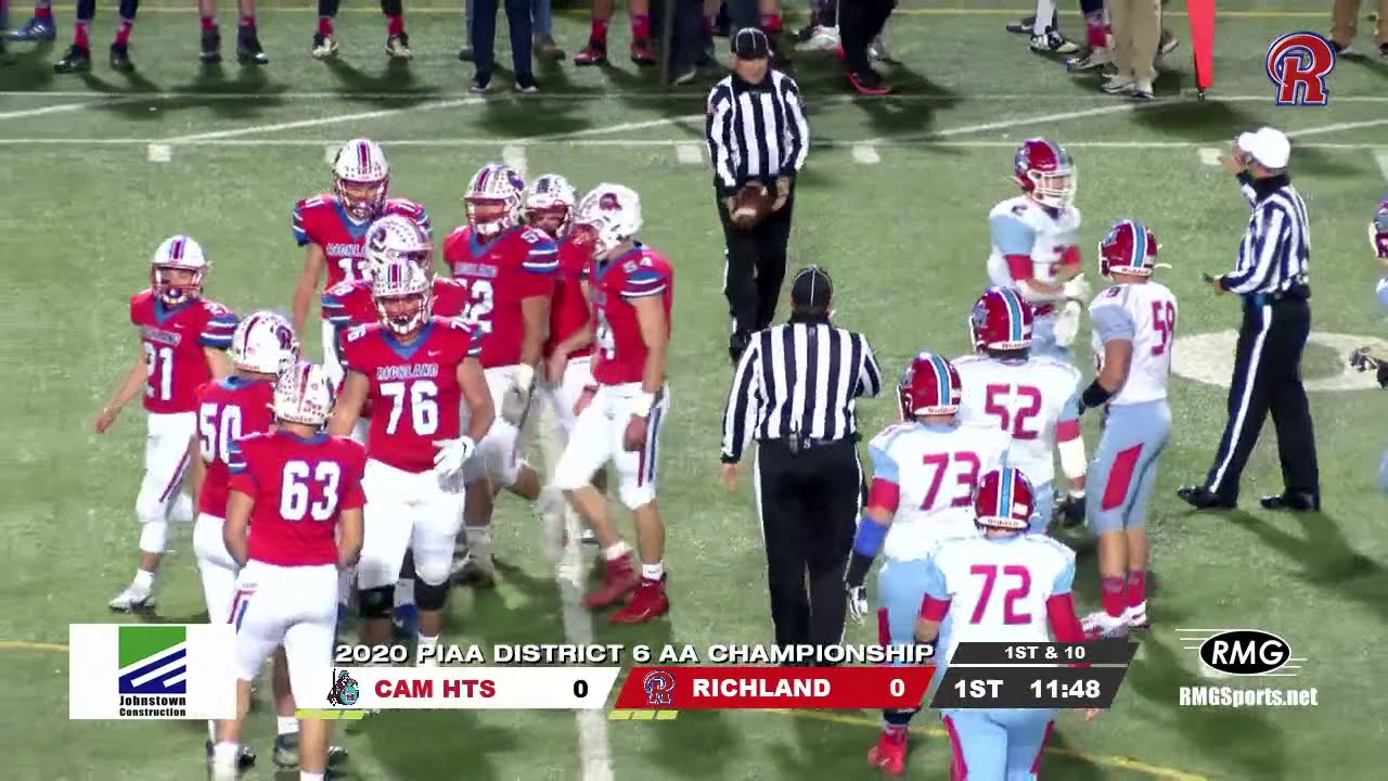 Live 2020 Piaa D6 Aa Championship Cambria Heights Highlanders Vs Richland Rams Youtube