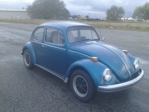 VW Beetle Rescued from Salvage Auction after engine fire.
