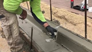 Treenet Inlet Kerb Mould and Faceplate Installation