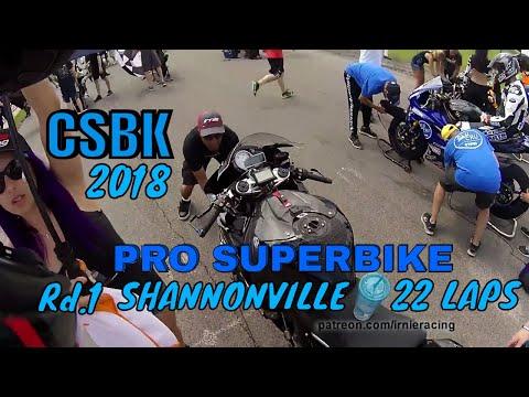 CANADIAN SUPERBIKE CHAMPIONSHIP 2018 - Shannonville 22 LAP RACE | Irnieracing
