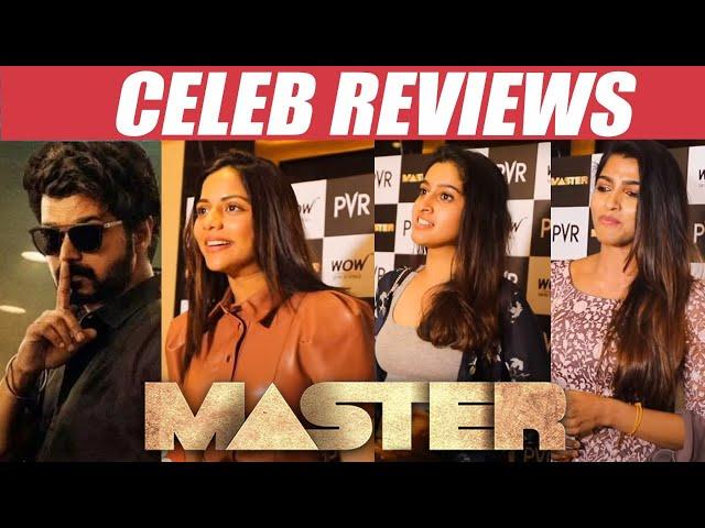 Tamil Celebs reaction to Vijay's Master    Master Review