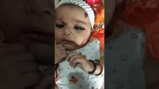 My cute baby talking