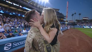 Captain Robert Wolfe surprises his wife after absence