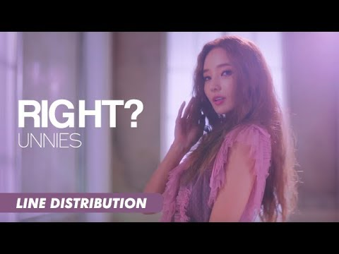 Unnies (언니쓰) - Right? (맞지?) | Line Distribution